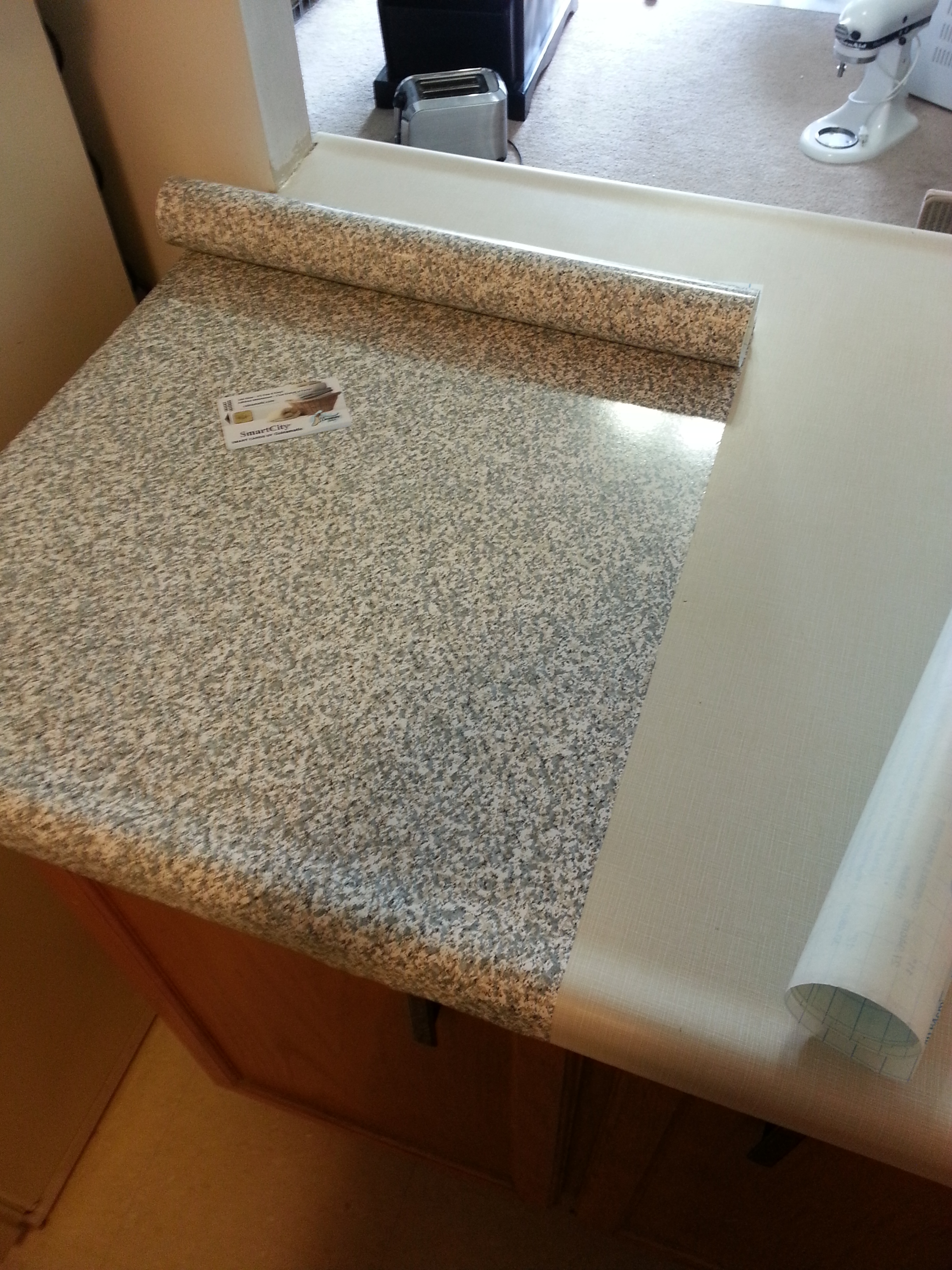 Countertop Contact Paper : Re cover old countertops with Con-Tact Papers! newlywed on a dime